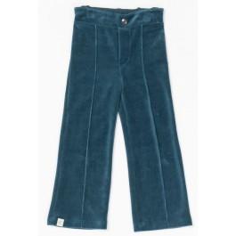 Alba of Denmark Hecco box pants Legion Blue velour