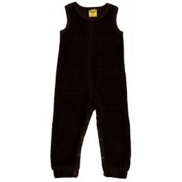 Gave bruine velours jumpsuit zonder mouwen van het hippe merk Duns Sweden.  De jumpsuit is gemaakt van GOTS gecertificeerd biologisch katoen. Dat is wel zo prettig!