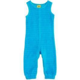 Hippe turquoise velours jumpsuit zonder mouwen van het hippe merk Duns Sweden.   De jumpsuit van Duns Sweden is gemaakt van GOTS gecertificeerd 100% biologisch katoen. Dat is wel zo prettig!