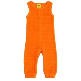 Hippe oranje velours jumpsuit zonder mouwen van het hippe merk Duns Sweden.   De jumpsuit van Duns Sweden is gemaakt van GOTS gecertificeerd 100% biologisch katoen. Dat is wel zo prettig!
