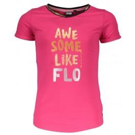 Like Flo t-shirt v-neck fuchsia