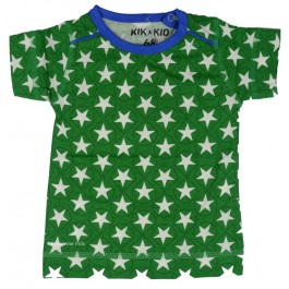 Kik-Kid t-shirt jersey print star green/white baby
