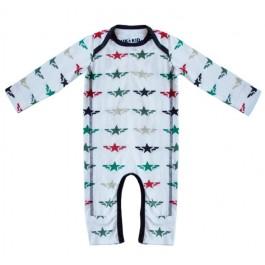 Kik-Kid jumpsuit print star wings white