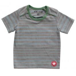 Kik-Kid t-shirt print stripe l. blue-brown