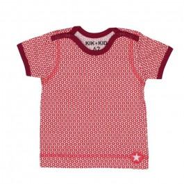 Kik-Kid t-shirt ss jersey print star white-red baby