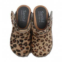 Sanita instapklomp Safari Brown Leopard_Pimpyourkids