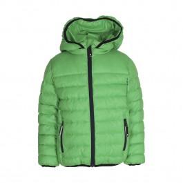 Gave groene winterjas van het Deense merk Molo. De jas is iets feller groen dan op de foto en heeft een ster op de schouder.
