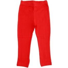 Prachtige effen rode legging van het Zweedse merk More Than a Fling.   De kinderkleding van More Than a Fling is gemaakt van 95% GOTS gecertificeerd katoen en 5% elastane.