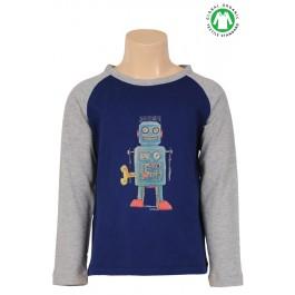 Petit Louie longsleeve Robot royal blue