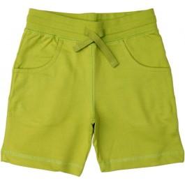 Groene korte broek van sweatstof van het het Zweedse merk Maxomorra. De short heeft zakken en een touwtje om de short aan te snoeren.   De short is gemaakt van 100% biologisch katoen.