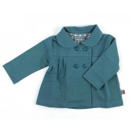 Hippe zomerjas van sweatstof van het Belgische merk Froy & Dind. De jas heeft een voering met print.