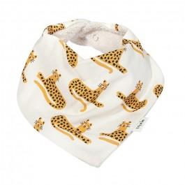 Tixie Baby bandana bib cheetah
