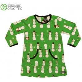 Villervalla jurk sneeuwpoppen groen