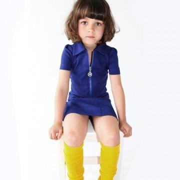 Kik kid jurk kobaltblauw jersey hippe kinderkleding van kik kid - Betegeld model van zijn miss bad ...