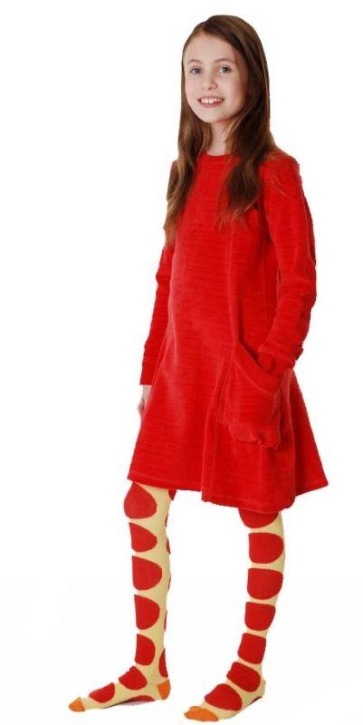 Rode Velours Jurk.Duns Sweden Jurk Velours Rood Hippe Kinderkleding Met Een Retro