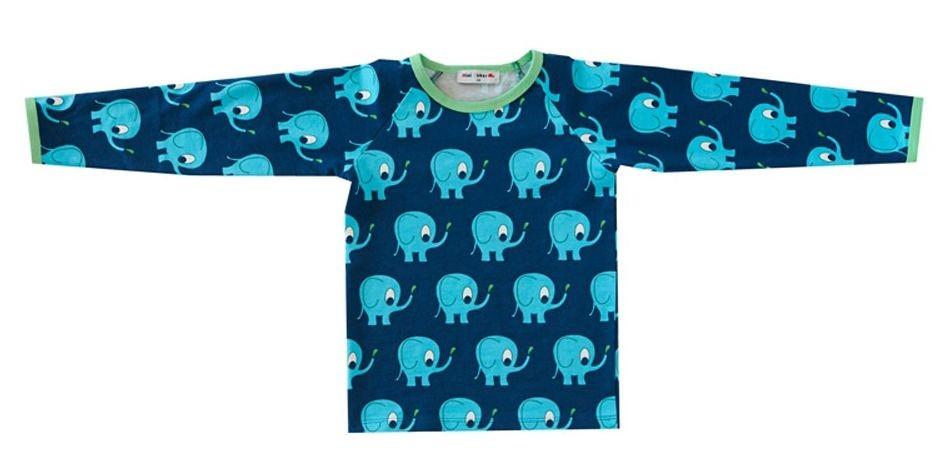 Mini Cirkus longsleeve olifanten blauw