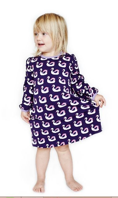 Mini Cirkus jurk zwanen paars