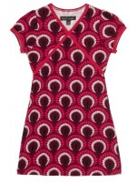 Petit Louie Cup dress Peacock Beaujolais red
