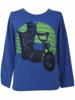 Danefae longsleeve blauw Erik op motor