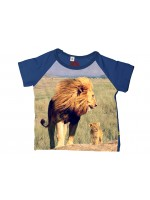 Stones & Bones t-shirt leeuw electric