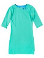 Waaaw jurk zeegroen 3/4 mouw