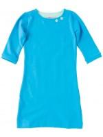 Waaaw jurk aqua 3/4 mouw