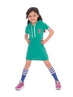 Br@nd for Girls dress hood green