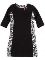 Waaaw jurk 3/4 mouw zwart/wit