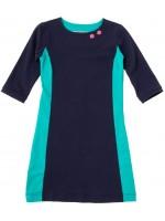Waaaw jurk 3/4 mouw Navy/Groen