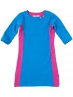 Waaaw jurk 3/4 mouw Blauw/Cyclaam