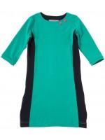 Waaaw jurk 3/4 mouw Groen/Navy