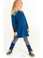AlbaBabY Helle School Dress Estate blue Striped