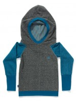 AlbaBabY Fabian hood blouse grey/blue