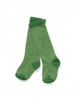 Groen gestreepte kniekousen van het Deense merk AlbaBaby.