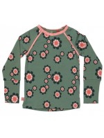 AlbaBabY Helia blouse Duck green flower