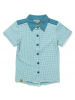 AlbaBabY Garfield shirt blue cubes