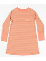 AlbaBabY Lea schooldress Fusion coral stripe