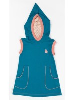 AlbaBabY Maria hood dress lyons blue