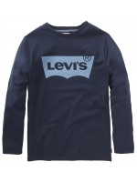 Levi's longsleeve Marine met blauw logo (boy)