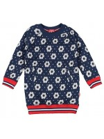 Claesens sweater dress Big Flower navy