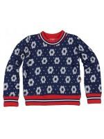 Navy sweater met bloemenprint van het merk Claesens.