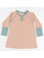 AlbaBabY My baby dress Dusty rose small flowers