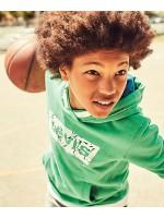 Levi's hoodie ming green wit logo