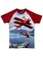 Stones & Bones t-shirt stuntvliegtuig red