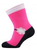 Melton terry babysokjes ballerina roze