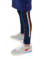Br@nd for Girls fitted pants shiny navy/Orange tape