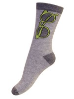 Melton sokken grijs bril