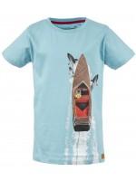 Stones & Bones t-shirt Shark boat blue