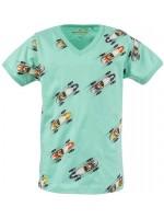 Stones & Bones t-shirt Racecars turquoise