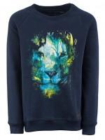 Stones & Bones sweater Lion Forest Navy